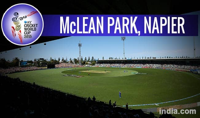 ICC Cricket World Cup 2015 Schedule at McLean Park, Napier: Get Timetable and Ticket details of CWC 15 matches