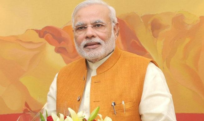 नरेंद्र मोदी ने महात्मा गांधी को श्रद्धांजलि दी