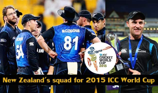New Zealand's squad for 2015 ICC Cricket World Cup: Likely 15-member team to be selected