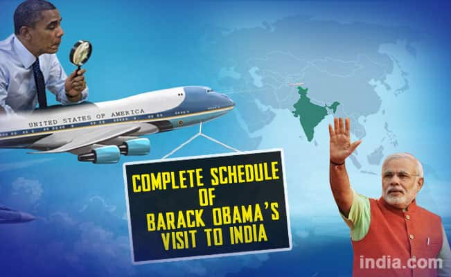 Barack Obama's India visit itinerary: Complete schedule of US President's trip for India's 66th Republic Day