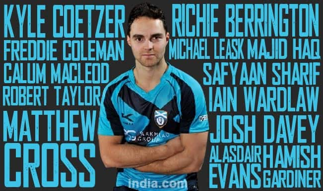 Team Scotland for ICC Cricket World Cup 2015: Team Profiles and Full Squad List of Scotland Players for ICC WC 2015