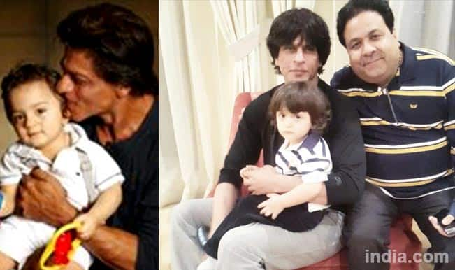 Shah Rukh Khan & AbRam welcome New Year 2015: Rajeev Shukla tweets adorable photo of father-son duo