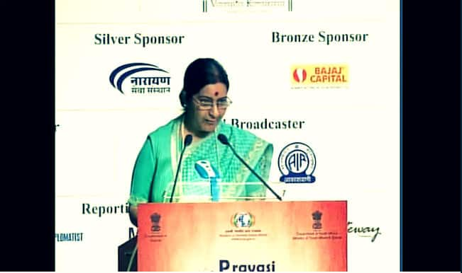 Pravasi Bharatiya Divas 2015: Sushma Swaraj asks diaspora youth to connect and contribute