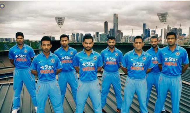 Team India S New Jersey For Icc Cricket World Cup 2015 Is