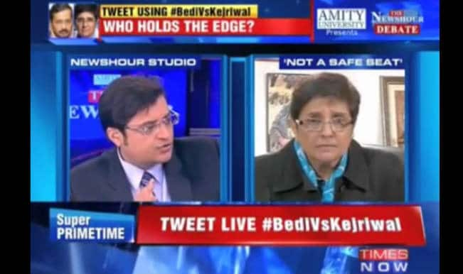 Kiran Bedi leaves Arnab Goswami's The Newshour interview in between: Watch Video of Not-Iron-Lady on Times Now