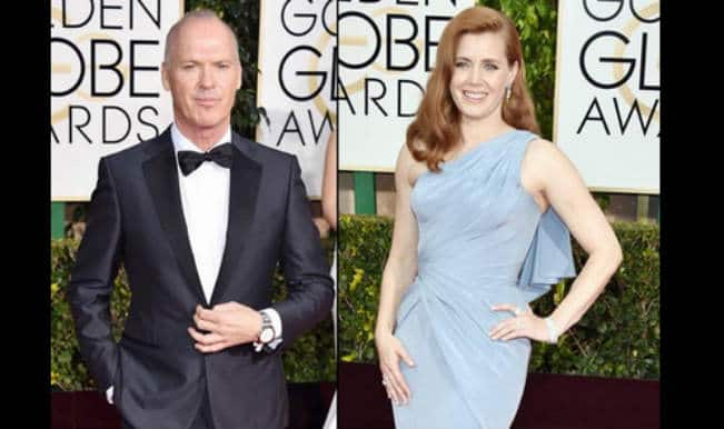 Golden Globe Awards: Michael Keaton and Amy Adams win best actor and actress in musical, comedy