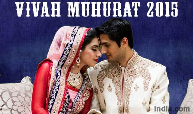 Vivah Muhurat 2015: Hindu Marriage Dates with Shubh Muhurat in 2015