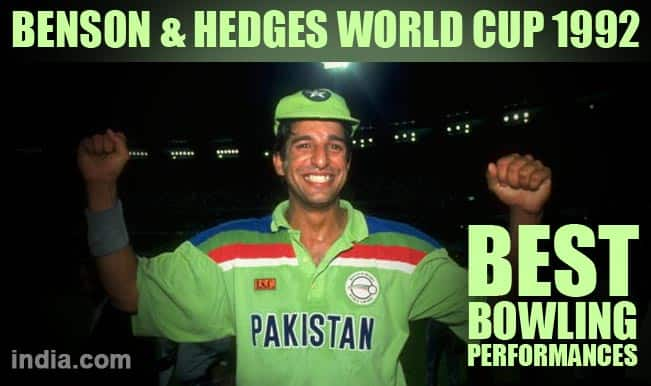 Benson & Hedges World Cup 1992: Wasim Akram's brilliance & 4 Top bowling performances