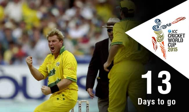 ICC Cricket World Cup 2015 Countdown Day 13: Shane Warne spins South Africa into trouble in World Cup 2003 semi-final