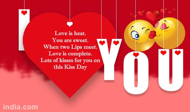 Lots Of Love And Kisses Quotes : Happy kiss day best sms whatsapp