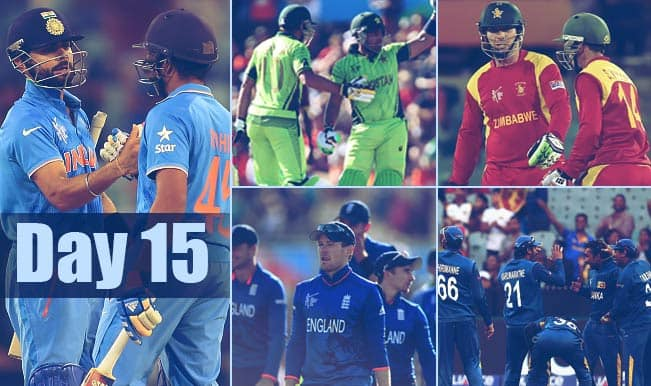 2015 Cricket World Cup Day 15: Highlights, Points Table and Schedule for upcoming matches of WC 2015