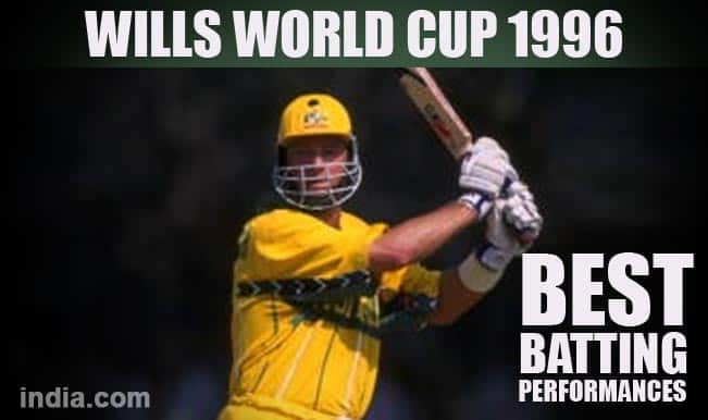 Wills World Cup 1996: Sachin Tendulkar, Mark Waugh & other top batting performances