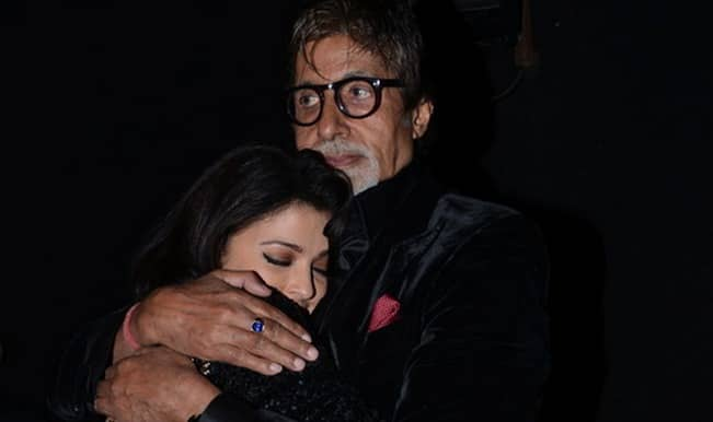 Shamitabh: Aishwarya Rai Bachchan hugs Amitabh Bachchan post screening! View pictures