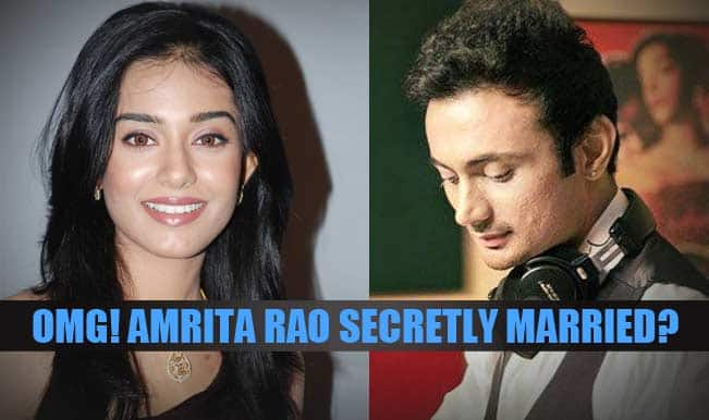 OMG! Amrita Rao secretly ties the knot?
