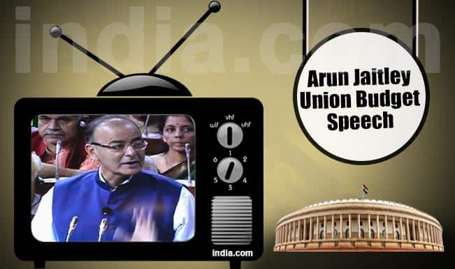 Union Budget 2015-16 Full Speech Video: Watch Finance Minister Arun Jaitley presenting his Budget Speech for India