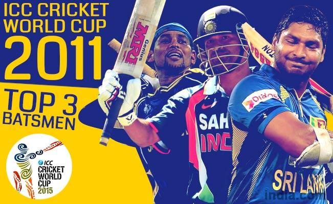 ICC Cricket World Cup 2011: Sachin Tendulkar, Kumar Sangakkara among top 15 batsmen of CWC 2011