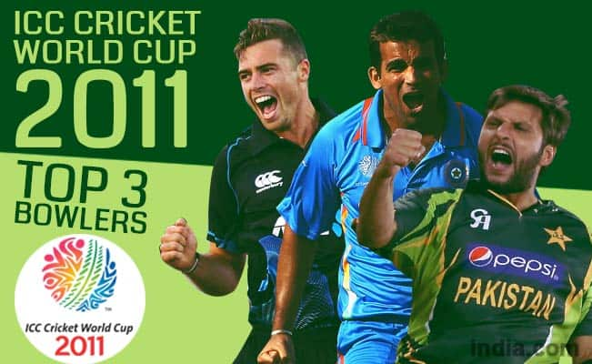 ICC Cricket World Cup 2011: Shahid Afridi, Zaheer Khan among top 15 bowlers of CWC 2011