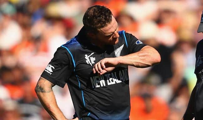ICC Cricket World Cup 2015: Brendon McCullum survives injury scare