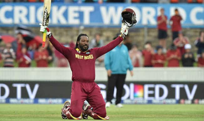 Chris Gayle scores first double century in World Cup history: Watch full video of Gayle-storm in WI vs ZIM 2015 Cricket World Cup match