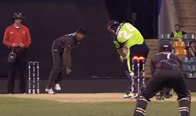 Ed Joyce's miraculous escape during Ireland vs United Arab Emirates, ICC Cricket World Cup 2015 Match: Watch Video