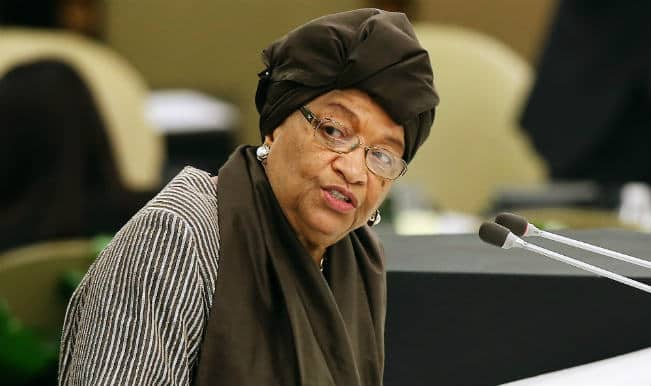 Ellen Johnson Sirleaf  pays tribute to US for successful five-month mission to combat Ebola in Liberia