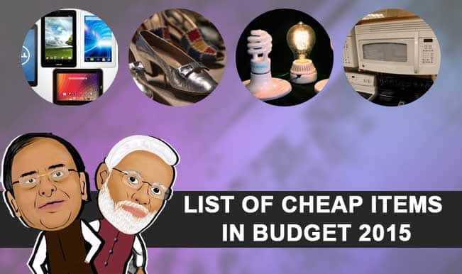 Union Budget 2015-16 Price Alert: List of items got cheaper in Arun Jaitley's first budget for Modi Government