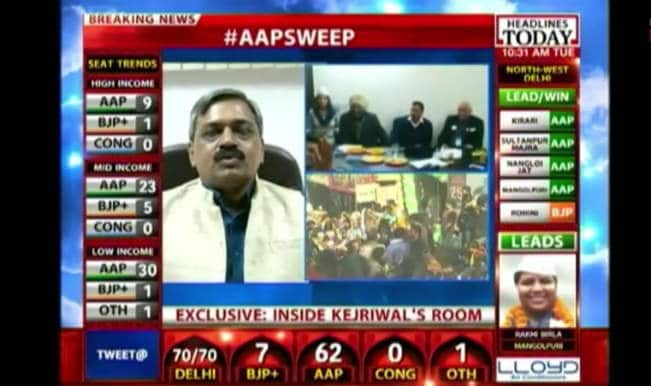 Delhi Assembly Elections Live Results: BJP party leader Satish Upadhyay admits defeat on Headlines Today news channel