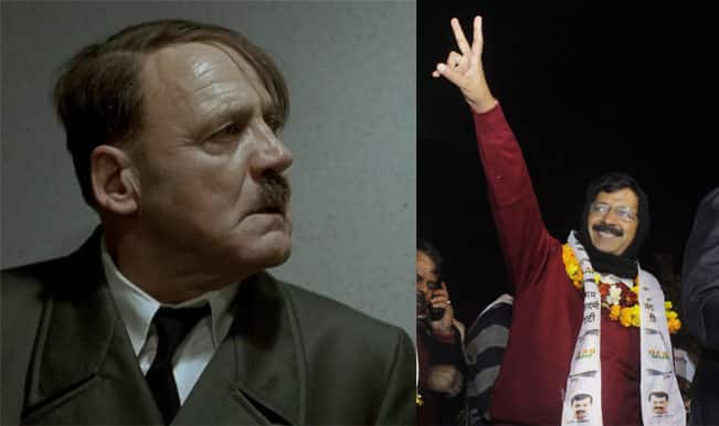 Adolf Hitler fumes as Arvind Kejriwal's AAP annihilates BJP and Congress in Delhi – Watch Video