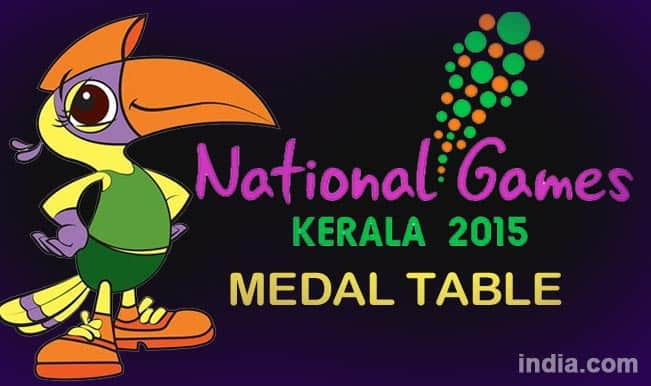 National Games 2015 Medal Table: Kerala jumps to 2nd place, Services SCB dominates Medal Tally