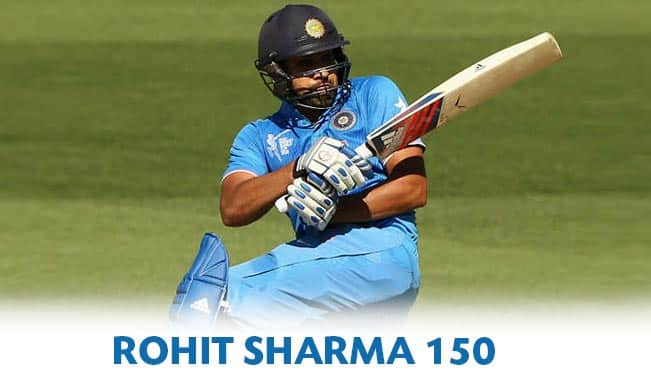 India vs Afghanistan Highlights, ICC World Cup 2015 Warm-up Match 7: Rohit Sharma's ton & other top moments