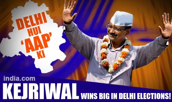 Image result for aap wins delhi again