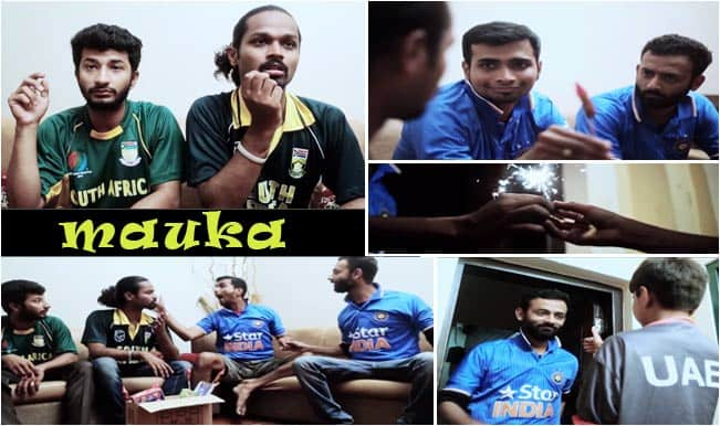 India vs United Arab Emirates Mauka Mauka Spoof: IND fan taunts a minnow UAE supporter – Watch Video