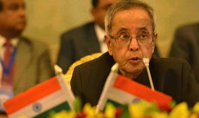 प्रदेश के मामले संविधान की भावनाओं के तहत संचालित हों : राष्ट्रपति प्रणब मुखर्जी