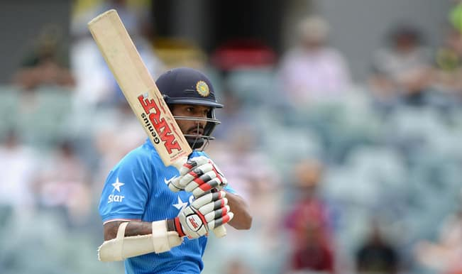 India vs Australia ICC Cricket World Cup 2015 Warm-up Match 1 Video Highlights: Shikhar Dhawan OUT