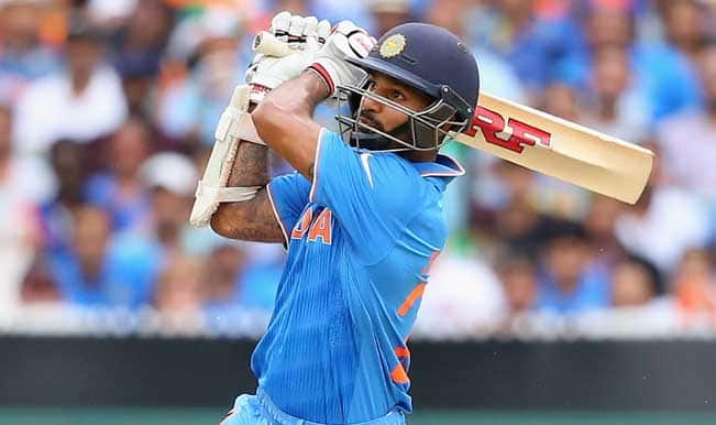 Shikhar Dhawan OUT! #IndiavsUAE (United Arab Emirates), ICC Cricket World Cup 2015 — Watch video highlights of fall of wicket