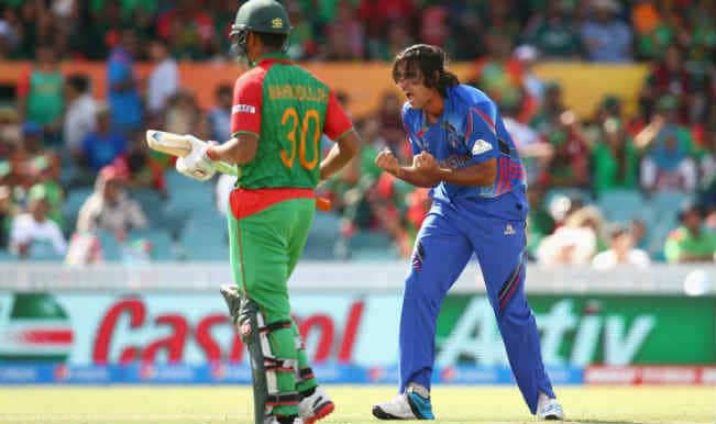 Soumya Sarkar OUT! Bangladesh vs Afghanistan, ICC Cricket World Cup 2015 – Watch Full Video Highlights of the wicket