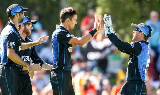 New Zealand vs Scotland Fall of Wickets: Trent Boult strikes twice in ICC Cricket World Cup 2015 – Watch video highlights