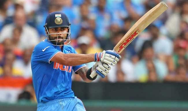 #IndvsUAE ICC Cricket World Cup 2015: India set to win 15 runs to win, INDIA 88/1 – Watch video highlights
