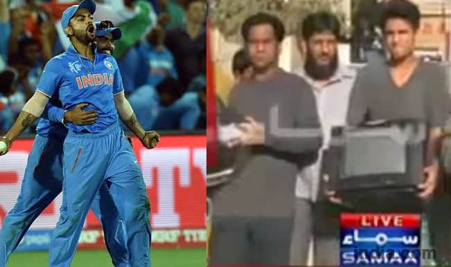 India vs Pakistan 2015: Still old-fashioned Pakistani fans breaks TV sets post Pakistan losing India in World Cup match