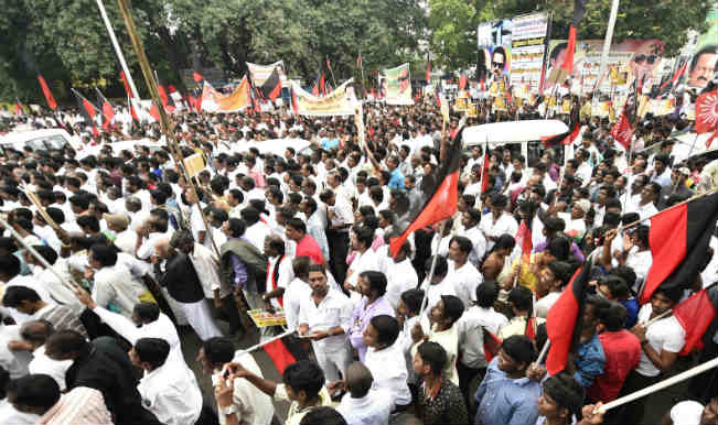 Tamil Nadu Assembly witnesses uproar, DMK MLAs evicted