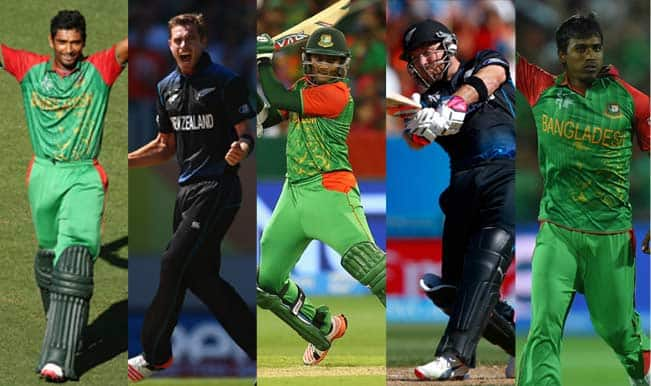 Bangladesh vs New Zealand, 2015 Cricket World Cup Group A, Match 37: 5 Key Players to watch out for in BAN vs NZ clash