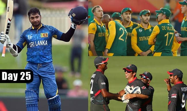 2015 Cricket World Cup Day 25: Highlights, Points Table and Schedule for upcoming matches of WC 2015