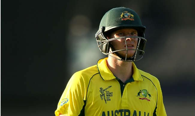 Steven Smith OUT! Australia vs Sri Lanka, ICC Cricket World Cup 2015 – Watch Full Video Highlights of the wicket