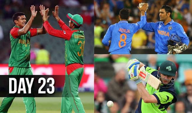 2015 Cricket World Cup Day 23: Highlights, Points Table and Schedule for upcoming matches of WC 2015
