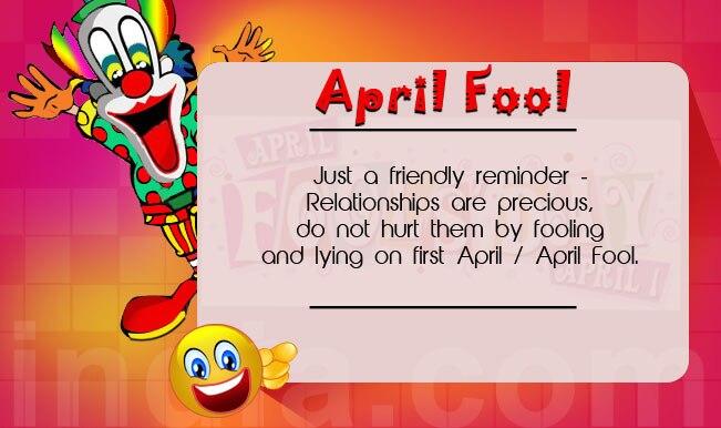 Adult prank april fool