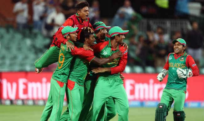 Bangladesh record historic win to dump England; marches to 2015 Cricket World Cup quarter finals – Watch video