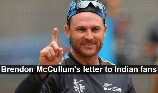 Australia vs New Zealand Cricket World Cup 2015 final: Brendon McCullum's letter to Indian fans ahead AUS vs NZ match
