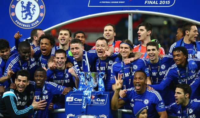 Double Delight Sunday for Jose Mourinho as Chelsea lift Capital One Cup 2014-15