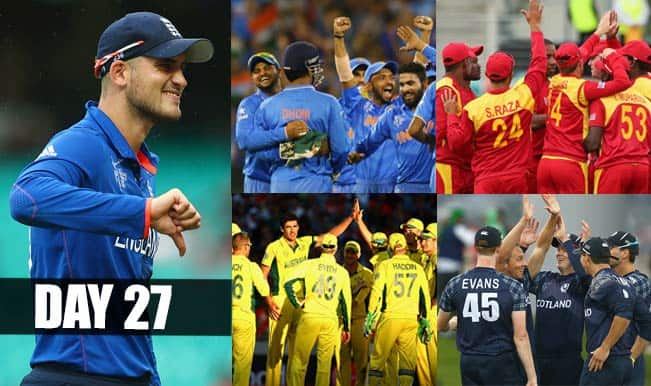 2015 Cricket World Cup Day 27: Highlights, Points Table and Schedule for upcoming matches of WC 2015