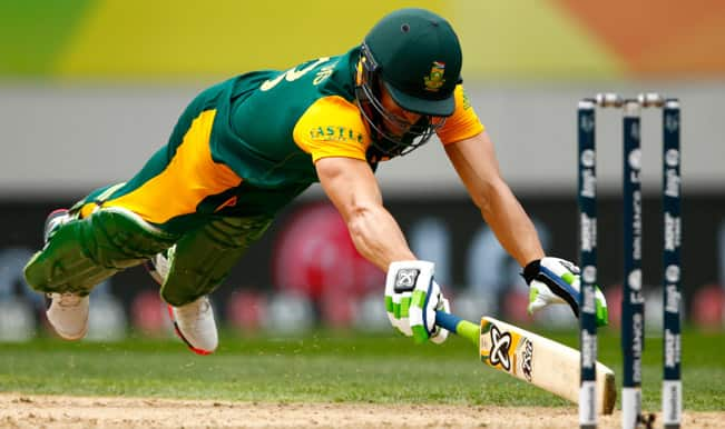 New Zealand vs South Africa, ICC Cricket World Cup 2015: Faf du Plessis, AB de Villiers 50s among Top 3 Highlights in SA innings vs NZ